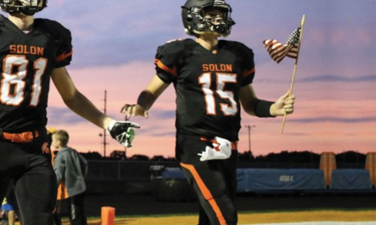 Solon Football Armed Forces Night
